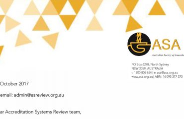 Accreditation Systems Review ASA